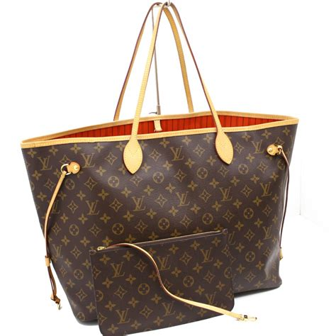 authentic louis vuitton monogram neverfull gm hand