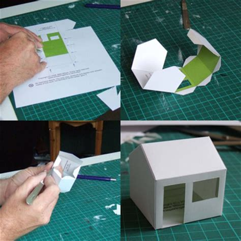 Make A House Out Of Paper - paper house templates by mike wilson paper crave