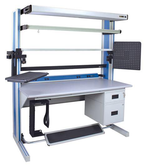 iac benches iac dim4 30x72 adj ergonomic workstation bench starter kit