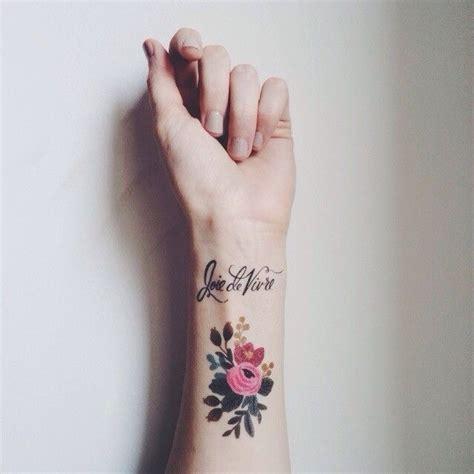 joie de vivre tattoo wrist flowers joie de vivre tattoomagz