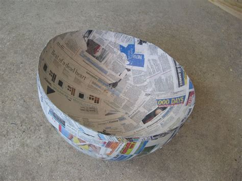 How To Make A Paper Mache Football - how to make a yoshi costume soccer paper mache and