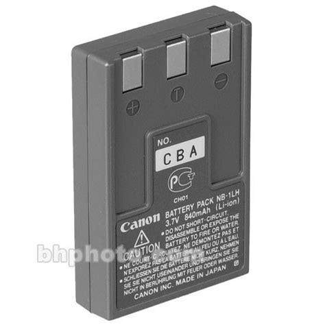 canon nb 1lh lithium ion battery 3 7v 840mah 7649a001 b h
