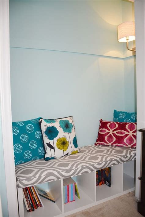 reading nook bench 35 diy ikea kallax shelves hacks you could try shelterness