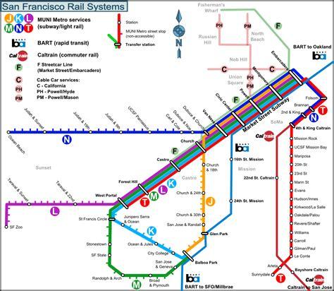 san francisco transportation map bay area rapid transit rapid transit and bay area on
