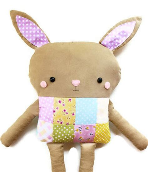 Patchwork Dolls Patterns - pdf sewing pattern bunny patchwork softie doll