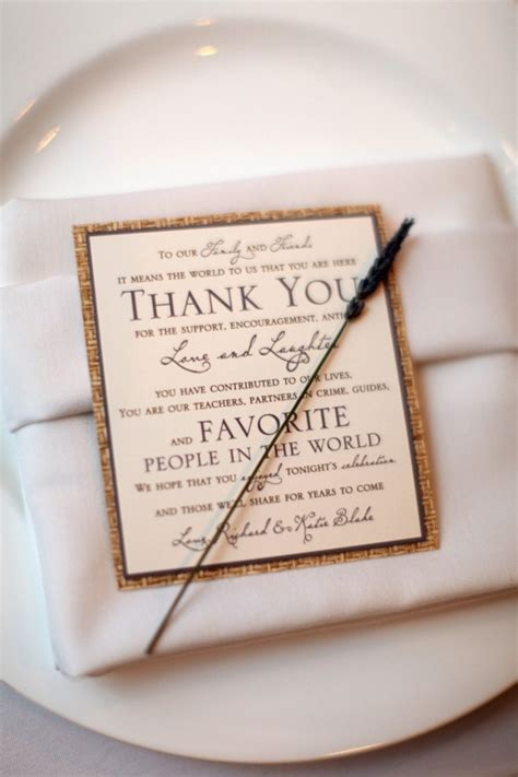 Thank You Letter Wedding Guest 17 best images about wedding table decor on