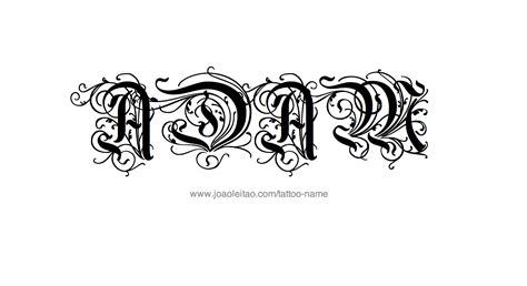 create name designs tattoos adam name designs