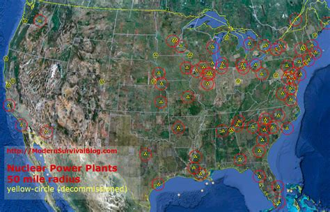 nuclear power plant map usa nuclear power plant meltdown 50 mile radius modern