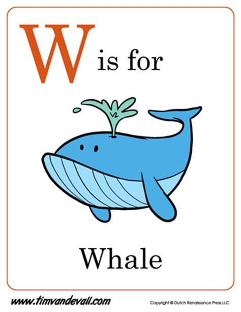 w is for whale letter w coloring page pdf