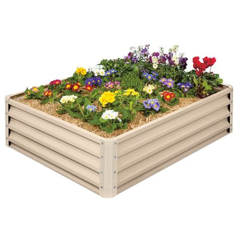 stratco raised garden bed galvanized metal lg