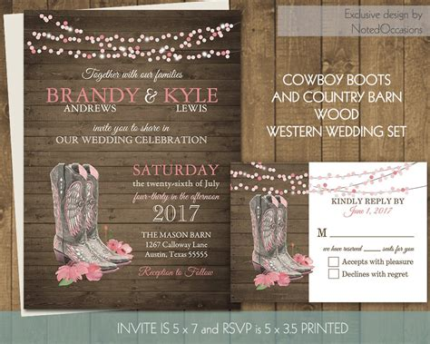 printable western wedding invitations free printable country western wedding invitations set cowboy boots