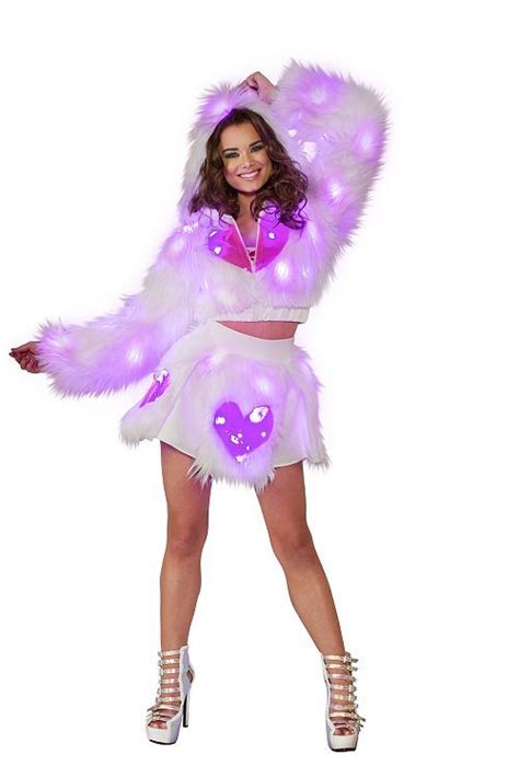 light up rave clothes jv rb300 light up pink heart window hooded cropped