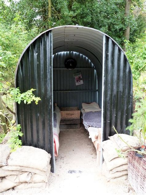 the shelter anderson shelter in chatsworth castle park uk air raid