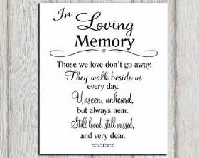 How To Make Tent Cards In Word - in loving memory printable memorial table wedding memorial sign memorial quotes those we love