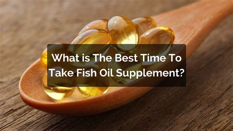 When Is The Best Time To Take A Detox Drink by What Is The Best Time To Take Fish