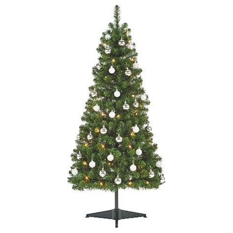 5 ft pre lit tree with ornaments christmas trees asda