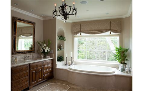 bathroom window valance ideas mcdowell interiors palos verdes bathroom design