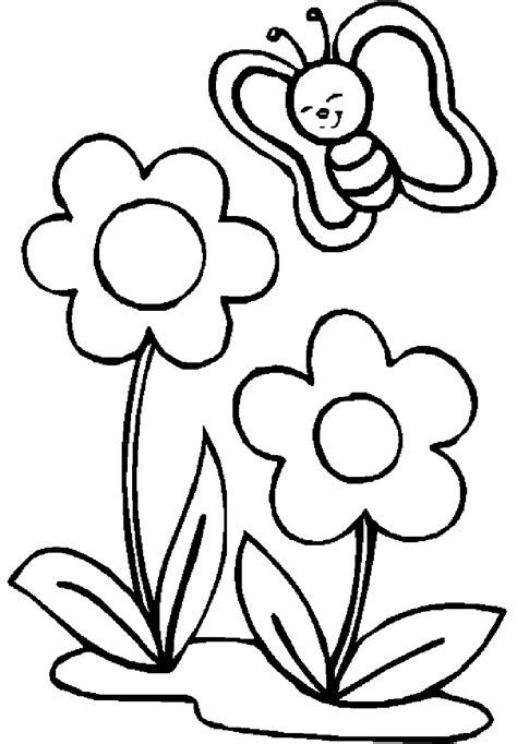 Small Butterfly Coloring Pages flowers with small butterfly coloring pages for pb
