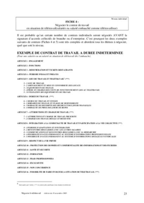 modele contrat de travail cdd algerie