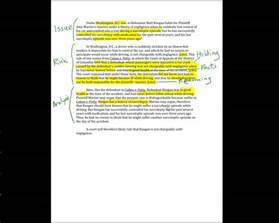 How To Write An Issue Analysis Paper 17 Irac With Cases Sample Memo Youtube