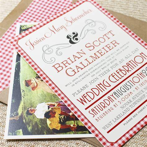 wedding invitations mn picnic celebration flat card wedding invitation west