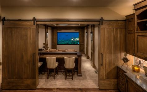 Home Theater City promontory 60 residence rustic home theater salt