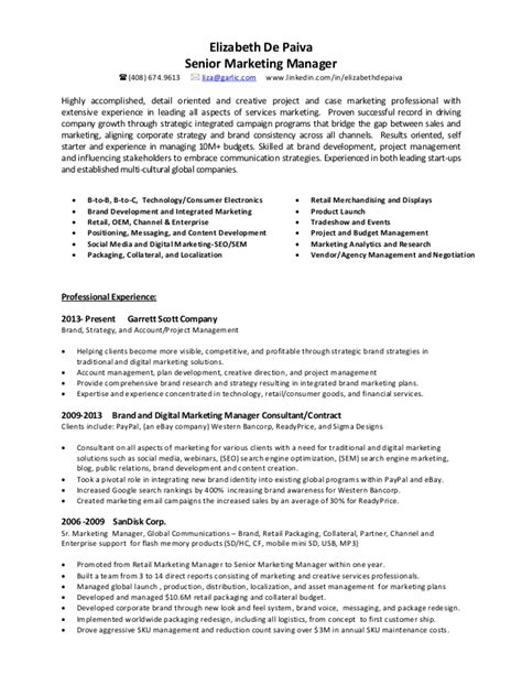 Sle Resume For Trade Marketing Manager 28 Trade Marketing Resume 49 Professional Marketing Resume Free Premium Templates Trade