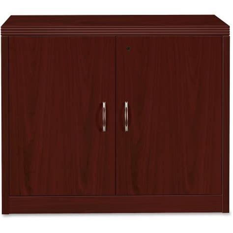 Hon Storage Cabinet With Doors Mahogany Mahogany Cabinet Doors