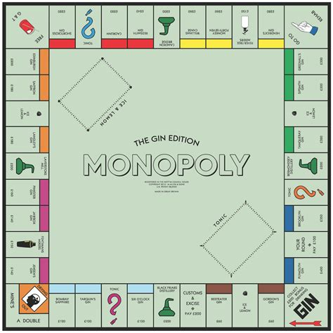 monopoly template gift for distilled spirits fans custom whiskey