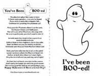 Outline In Color Ive Had This Before Meaning by You Ve Been Booed Office Version Print The Phantom Ghost Poem