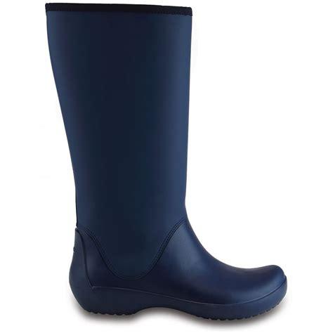 crocs rainfloe boot navy womens waterproof