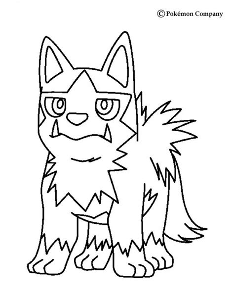 pokemon coloring pages poochyena poochyena coloring pages hellokids com