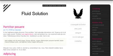 Free Blogger Template Fluid Solution Arcsin Web Templates Fluid Website Templates