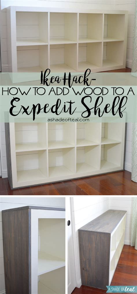 ikea cube shelf how to add wood to a ikea expedit cube shelf