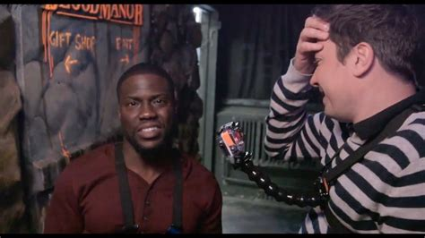 kevin hart haunted house kevin hart jimmy fallon get scared af in haunted house