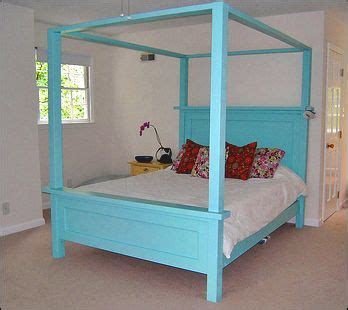 farmhouse bed canopy ana white   decide  build