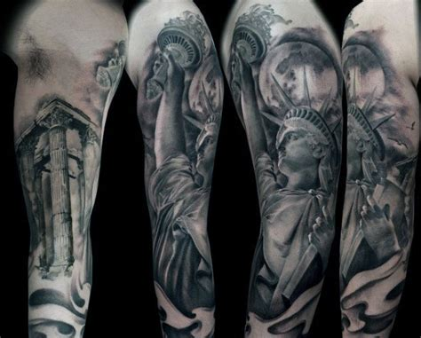 statue tattoo designs of liberty designs for a colossal neoclassic