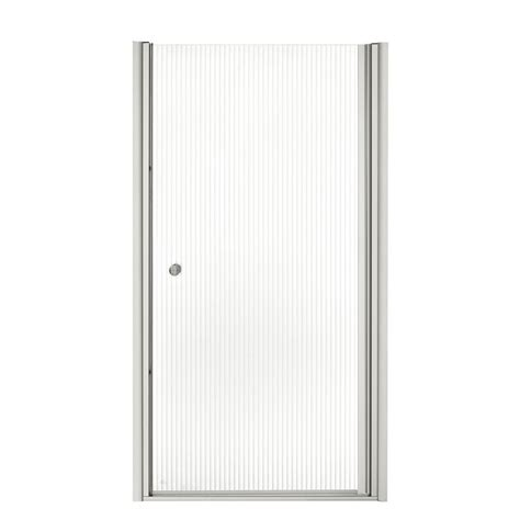 Kohler Fluence Shower Door Kohler Fluence 36 1 2 In X 65 1 2 In Frameless Pivot Shower Door In Matte Nickel K 702410 G54
