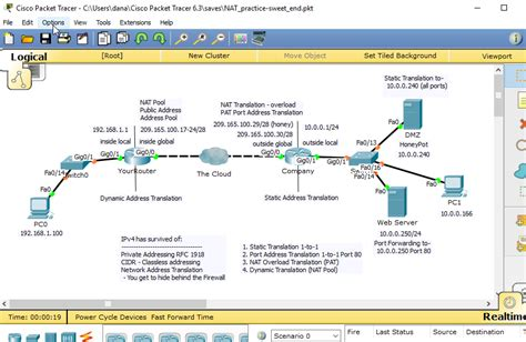 cisco packet tracer tutorial good for ccna configuring nat basics for the ccna with packet tracer