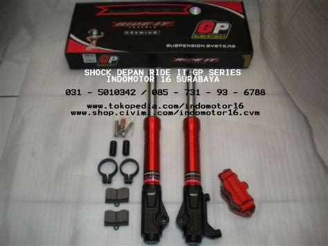 Shock Ride It Gp Series Matic Shock Depan Vario Ride It Gp Pro Series Orange Indomotor