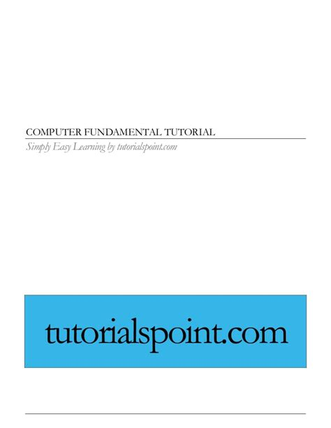 tutorialspoint gate computer fundamentals