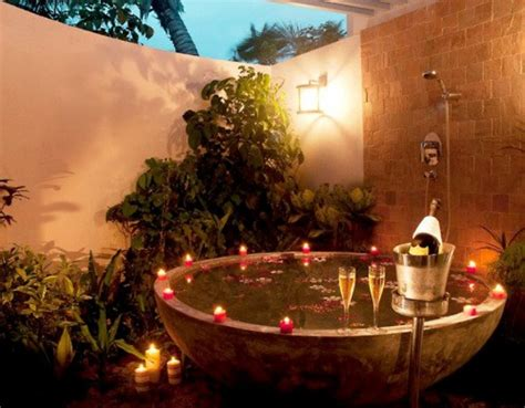 romantic bathtub ideas 48 awesome garden hot tub designs digsdigs