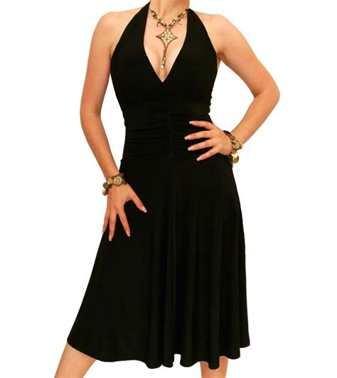 Halterneck Dress black halter neck dress