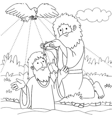 john the baptist baptism jesus coloring pages http www biblekids eu new testament baptism 20of