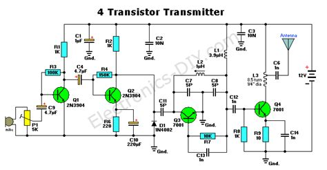 fm transmitter with one transistor 4 transistor fm transmitter