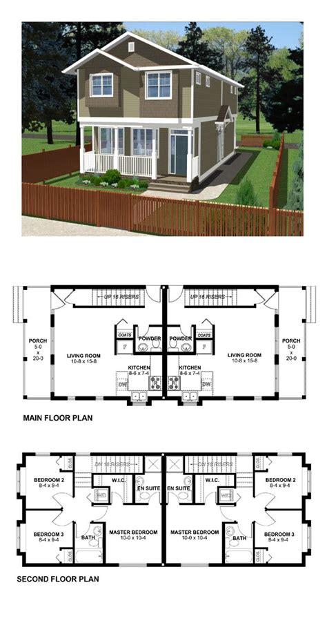 duplex plan 99955 total living area 1800 sq ft 6