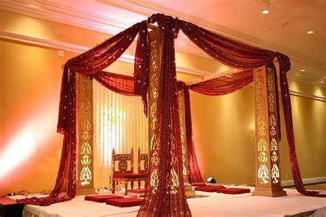 Simple yet a gorgeous mandap decoration   wedding venue
