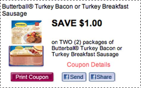 Printable Butterball Turkey Coupons | 1 2 butterball turkey bacon coupon