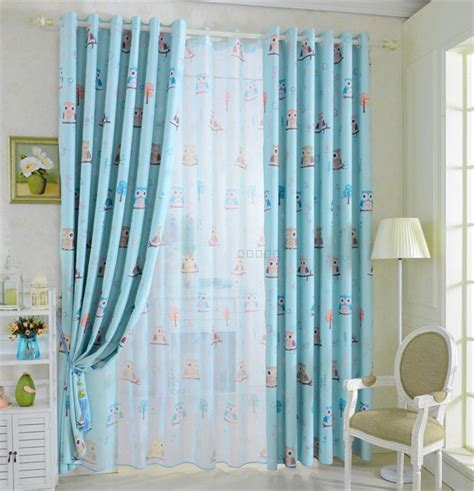 cartoon kids bedroom clouds blue best window curtains children room bedroom curtains cartoon cute owl curtains