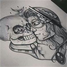 day of the dead tattoos on pinterest skull tattoos